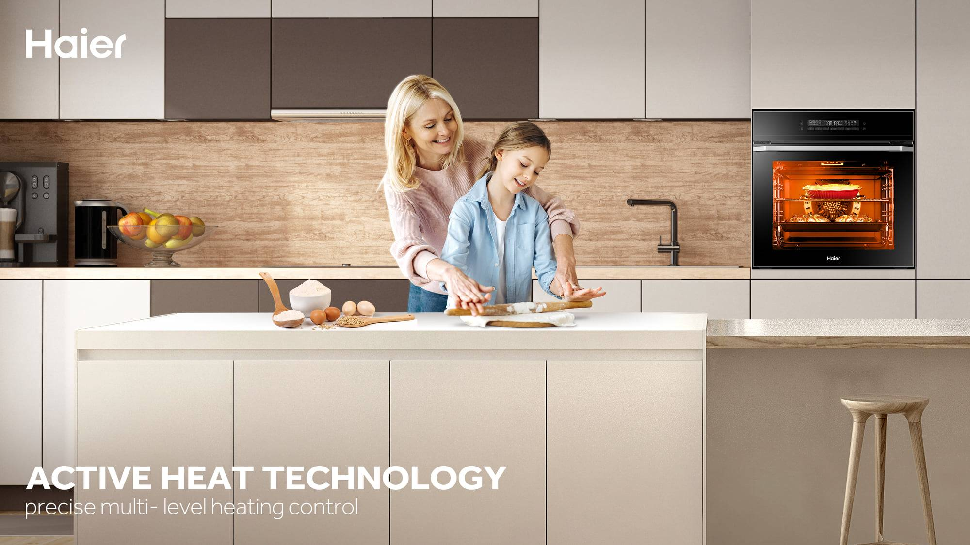 Good temperature control performance of Haier ovens guarantees your cooking experience.